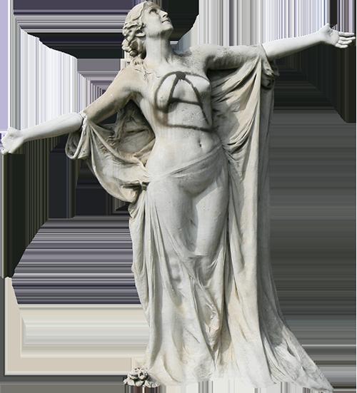 Estátua da verdade acompanhante de Eça (Albertina).
