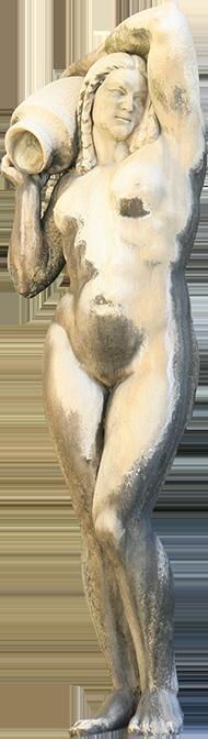 Estátua de mulher da Fonte Luminosa (Augusta).