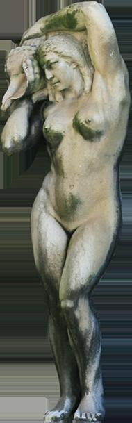 Estátua de mulher da Fonte Luminosa (Bernarda).
