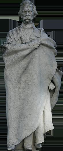 Estátua de Camilo Castelo Branco.