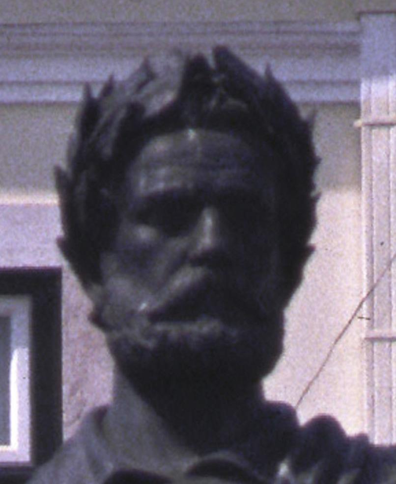 Cara da estátua de Camões