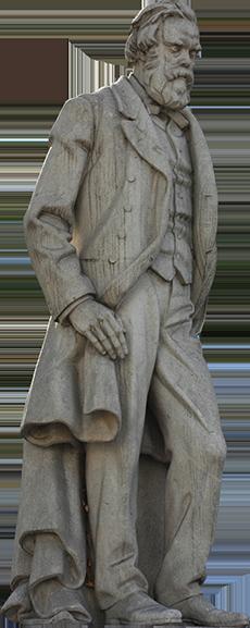 Estátua de Antonio Feliciano de Castilho.