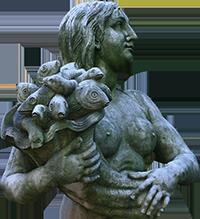 Estátua de sereia do Museu da Cidade (Ermelinda).