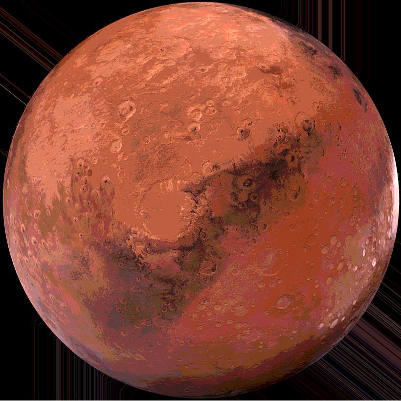 O planeta Marte.