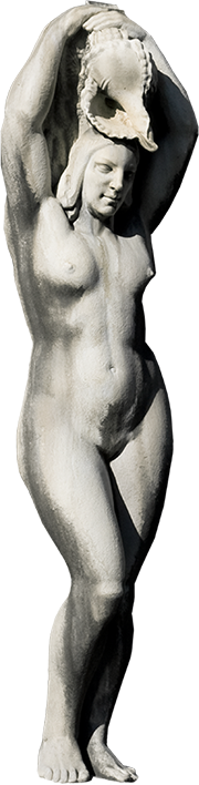Estátua de mulher da Fonte Luminosa (Matilde).