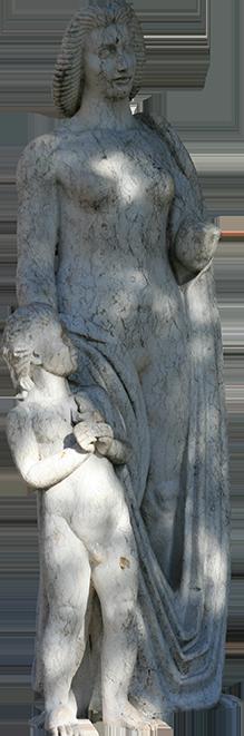 Estátua de mulher com criança (Milú).
