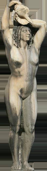 Estátua de mulher da Fonte Luminosa (Fernanda).