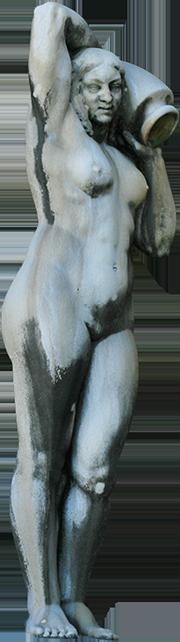 Estátua de mulher da Fonte Luminosa (Natércia).