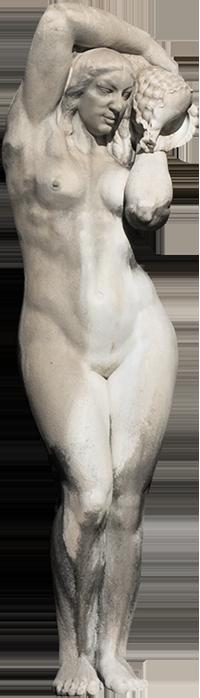 Estátua de mulher da Fonte Luminosa (Odete)