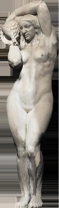 Estátua de outra mulher da Fonte Luminosa (Odete).