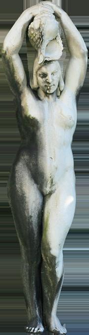 Estátua de mulher da Fonte Luminosa (Sílvia).