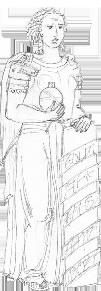 Desenho da Estátua da Soberania.