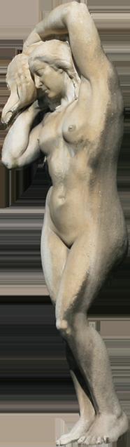 Estátua de mulher da Fonte Luminosa (Teresa).